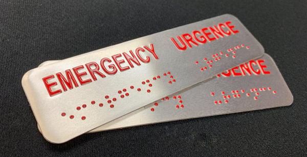 Emergency braille emboss