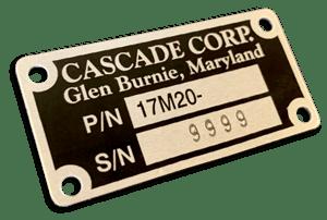 ID Plate Model SN