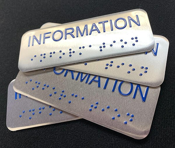 Information braille emboss