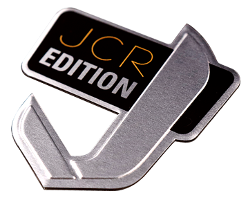 unique shape embossed aluminum badge