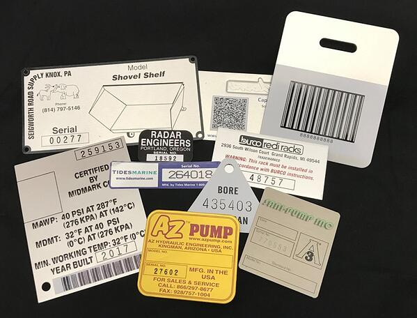 Variable Data Labels on Metal and Plastic material by McLoone