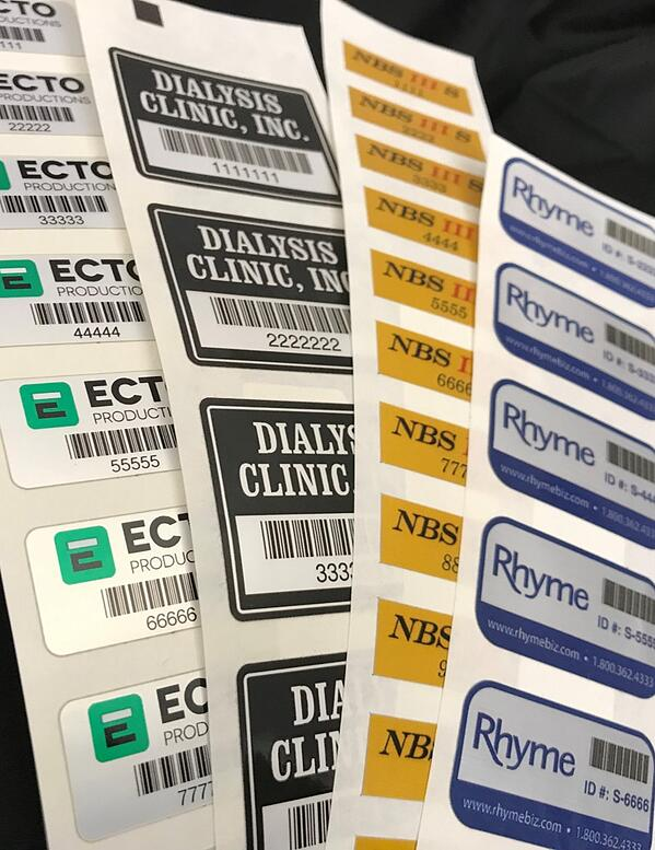 Variable Data labels printed in strips with consecutive numbering by McLoone