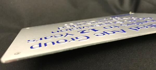 detailed look of embossed aluminum graphics