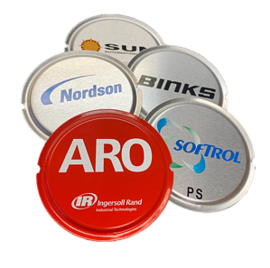 formed aluminum badge group aro