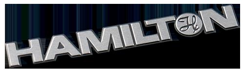 metal nameplate cut to shape of logo
