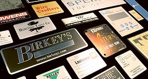 aluminum is material of choice for high quality and durable nameplates and id plates