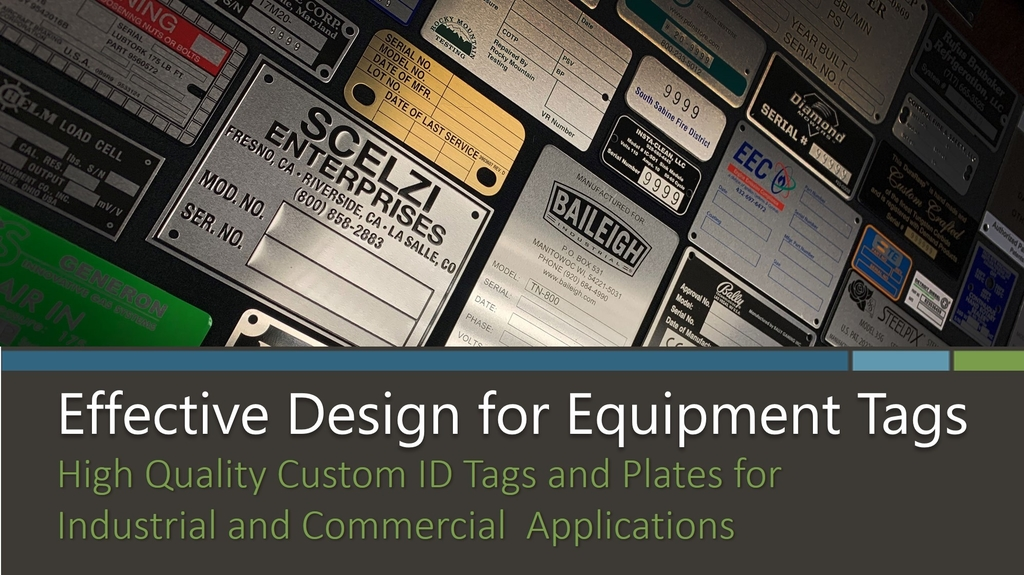 Effective Design for Equipment Tags eBook