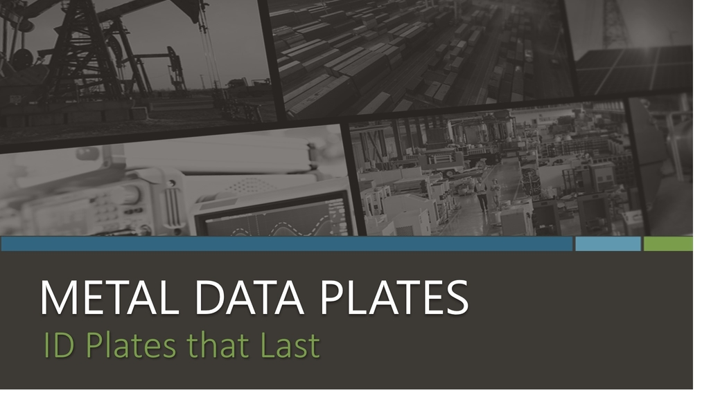 Metal Data Plates eBook