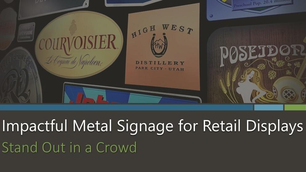 Impactful Metal Signage for Retail Displays eBook